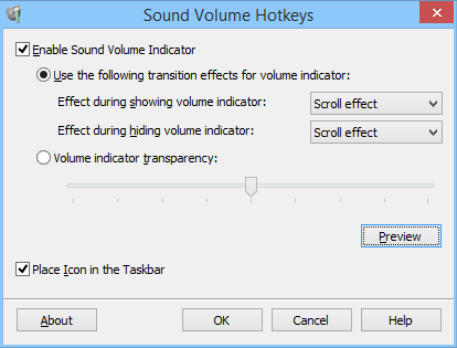 Windows 7 Sound Volume Hotkeys 1.1 full