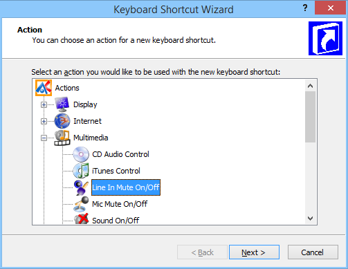 Keyboard Shortcut Wizard